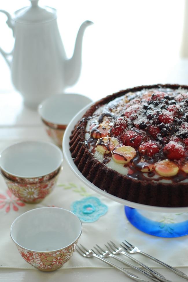 hindistan cevizli tart kek